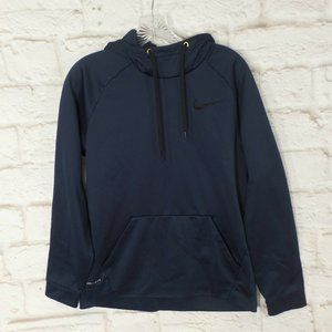 Nike Pullover Dri Fit Hoodie Fleece Navy New Hood